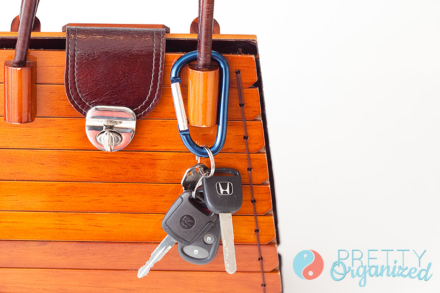 how to organize keys and purse