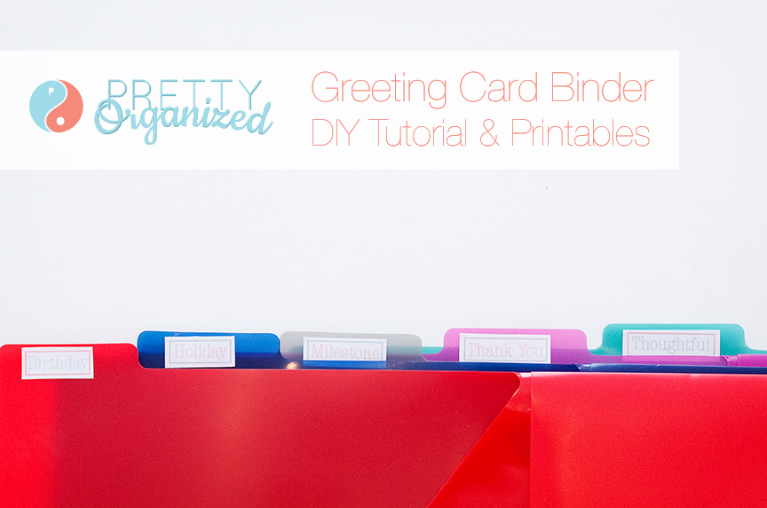 organized greeting card binder  how to organize, Greeting card
