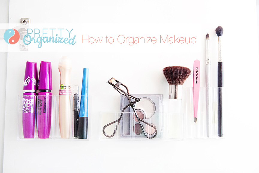 Organize-Makeup, Makeup Organizers Attached Inside Cabinet Door
