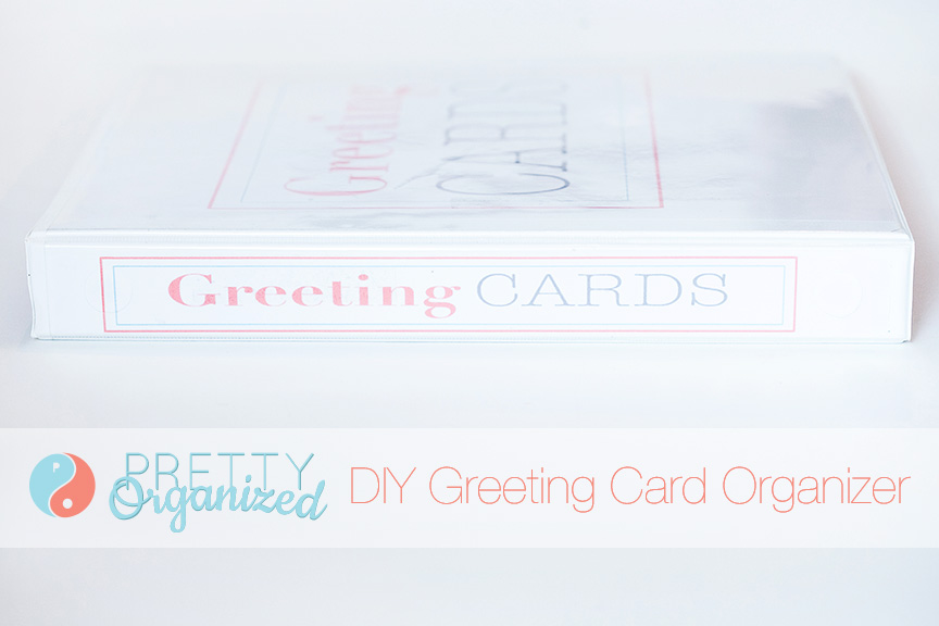 Store Greeting Cards, DIY Greeting Card Organizer in a Binder