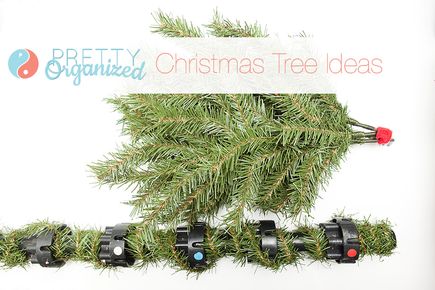 Christmas-Tree-Ideas color coding branches on artificial christmas trees