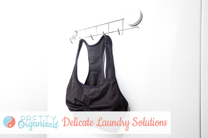 Use magnetic hooks to air dry delicates on your washing machine