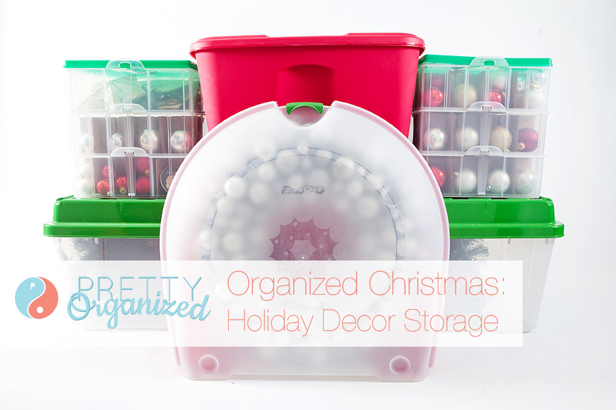 Organized Christmas Storage Boxes for Christmas Decorations: Wreath, Ornaments, Christmas Lights, Christmas Tree