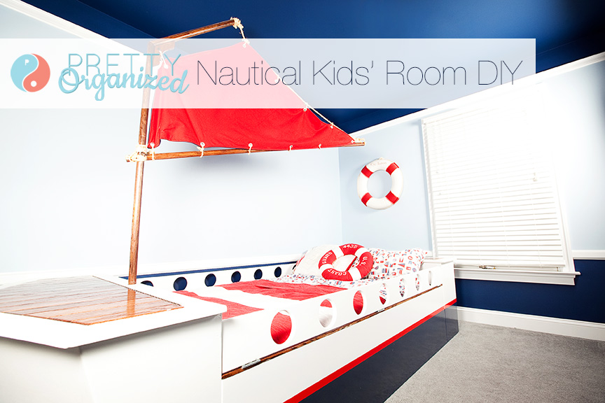 ideas-for-decorating-kids-rooms, DIY Boat Bed with Hidden Storage