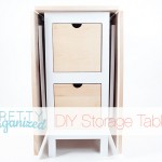 DIY-Projects, Folding Table with Storage Drawers