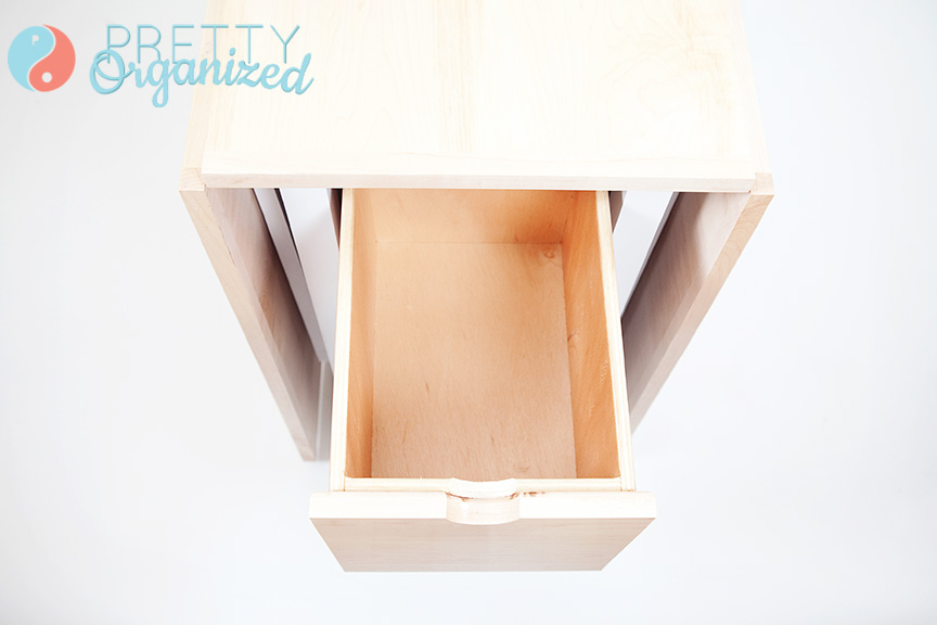 DIY-Table, Folding table wit built-in storage drawers