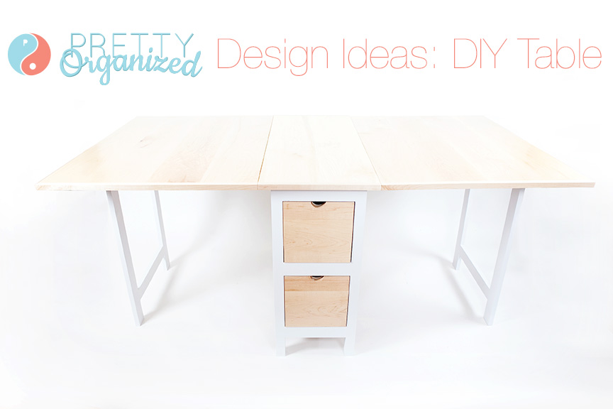 Design-Ideas, DIY folding table with storage drawers