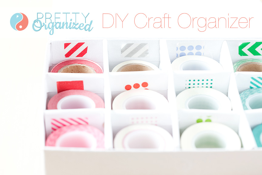 diy-organizer, divided storage box for craft supplies