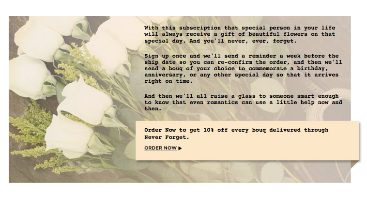 easy gifts, how-to-organize, subscribe for flower delivery on important dates