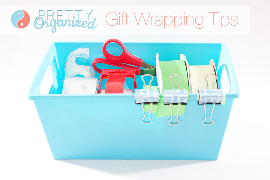 wrap-gifts, organized gift wrap storage