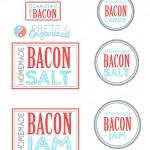 Bacon-Gift-Labels, Bacon Salt, Bacon Jam, Bacon Candy