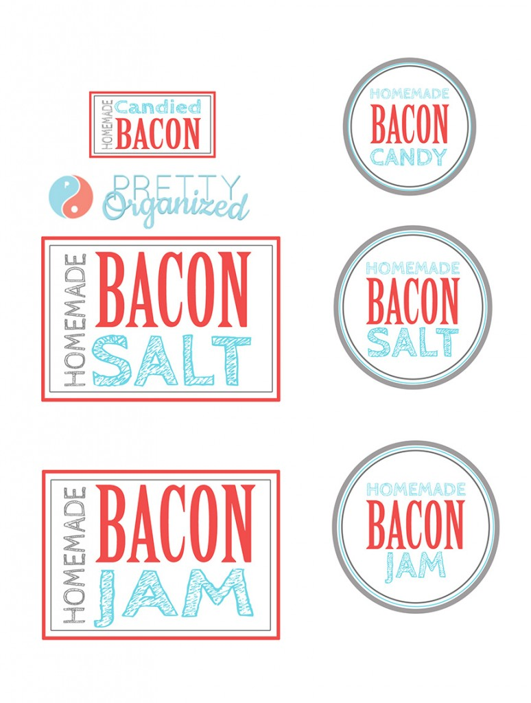 Bacon-Gift-Labels, Bacon Salt, Bacon Jam, Bacon Candy