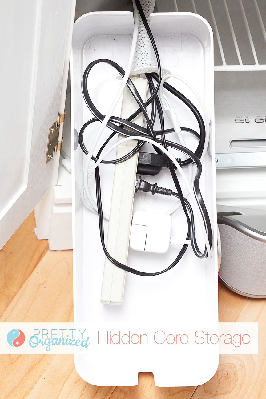 how-to-declutter, cord organizer