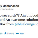 Bluelounge-Cablebox, Twitter
