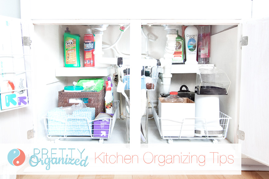 Kitchen Organizing Tip: Adding drawers inside lower cabinets makes everything easier to reach (and makes it easier to stay organized!)