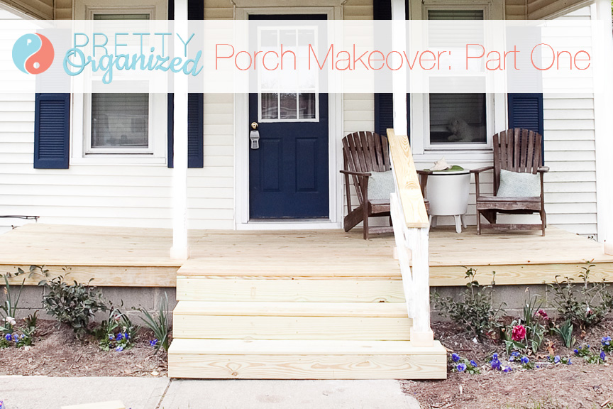 DIY Porch Update: A Pretty Porch for Pennies! - How to Organize