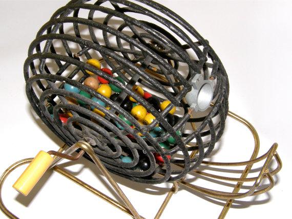 vintage bingo basket