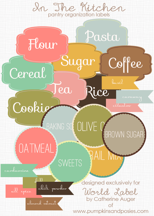 free pretty printable labels that you can customize to organize your kitchen