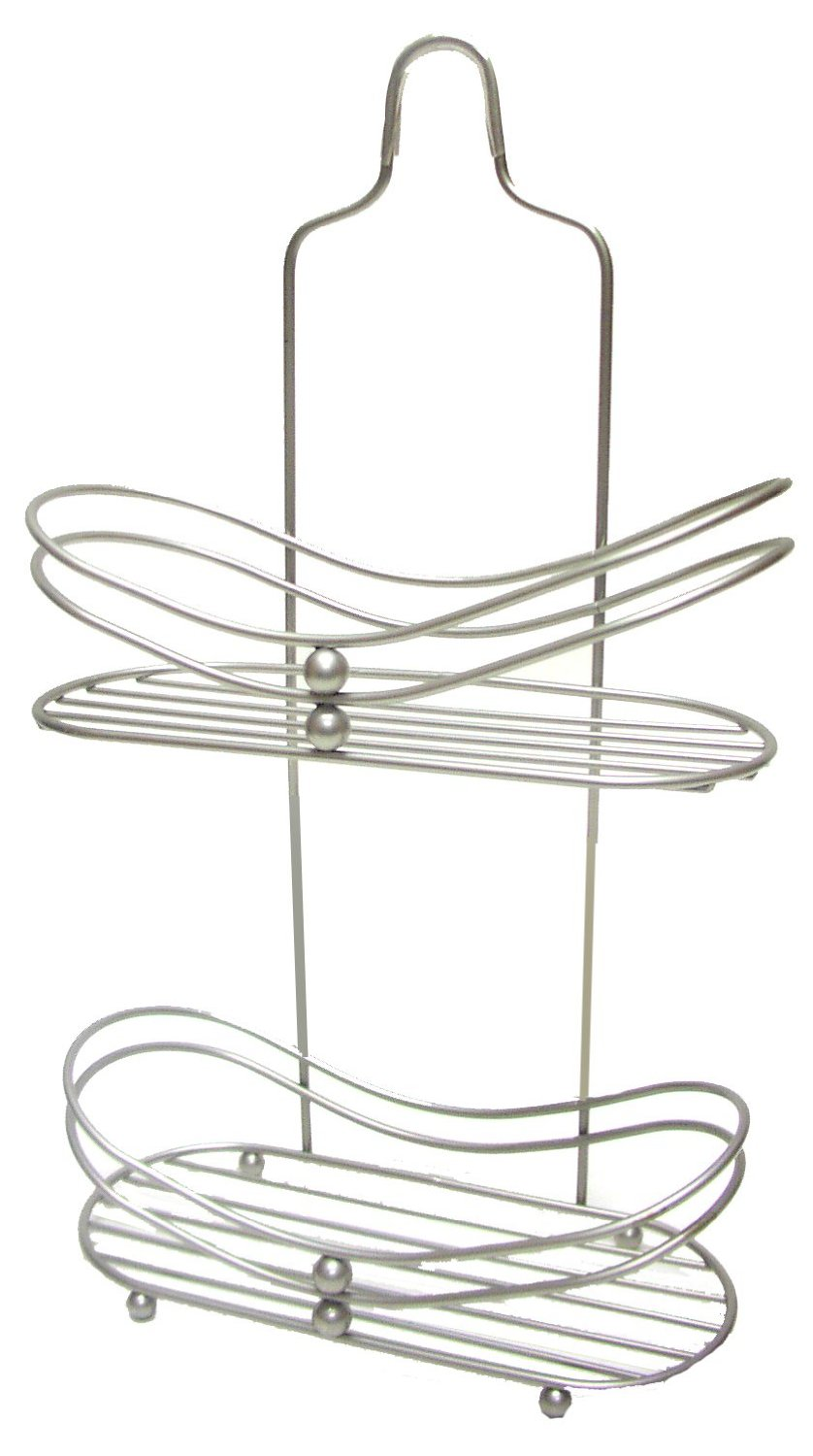 Use a shower caddy with a flat bottom as narrow shelving in small cabinets