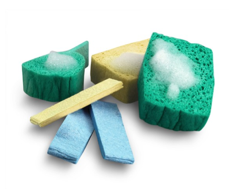Small space kitchen supplies: pop-up sponges!