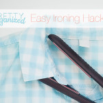 Cleaning hack: use a straightening iron to smooth out wrinkled shirts in a flash!