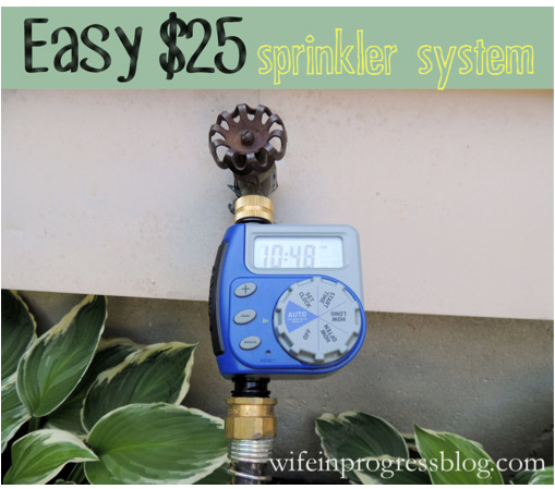 garden tips: use a sprinkler timer