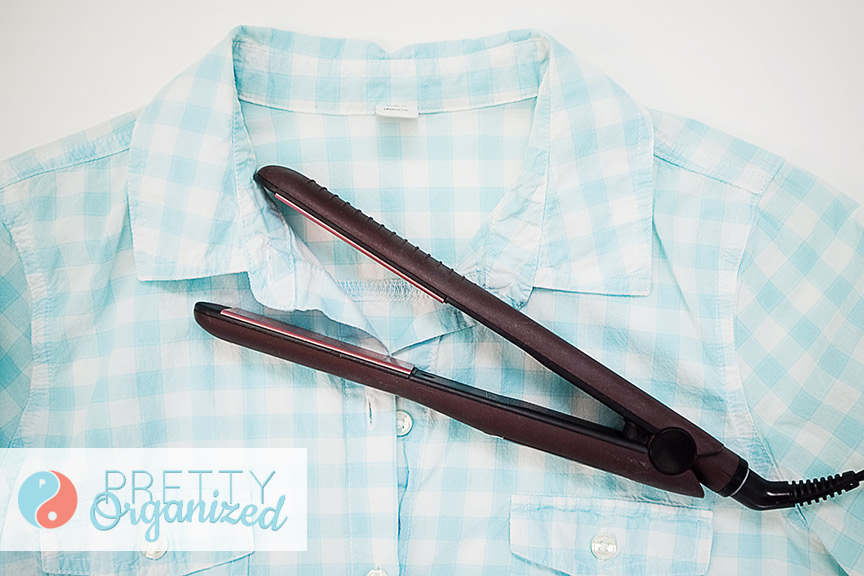 how to cheat at ironing: use a flat iron!