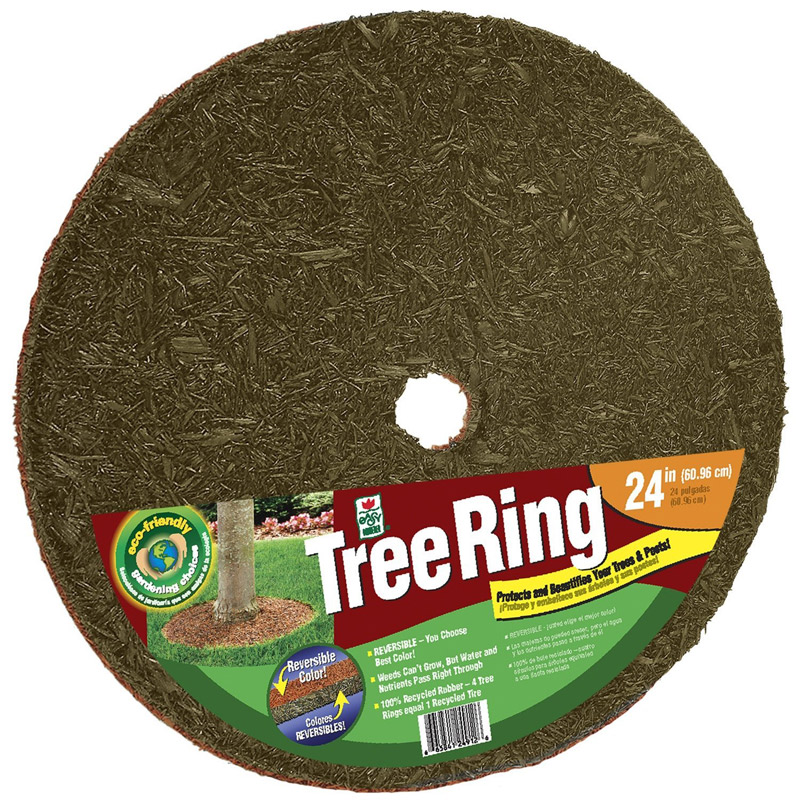 save time in the garden with rubber mulch tree rings