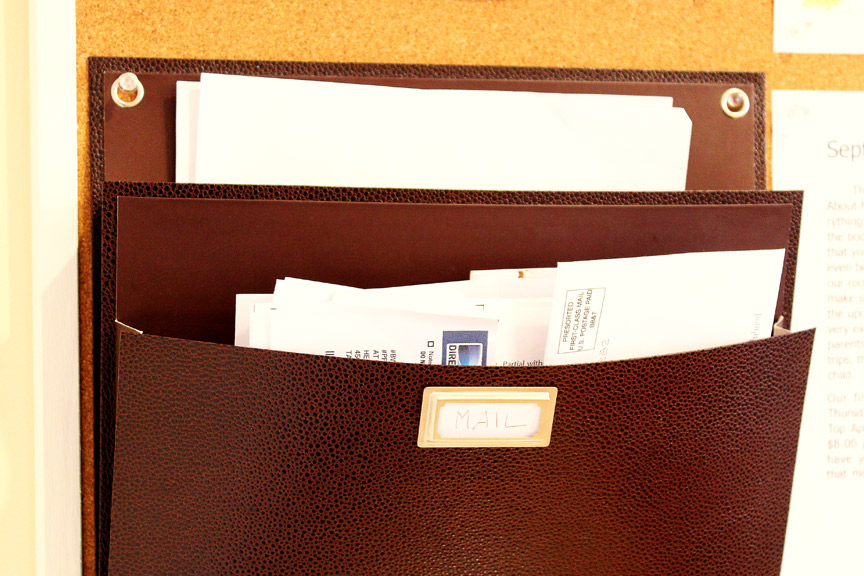 Quickly sort your mail as you walk in the door to keep clutter from piling up.