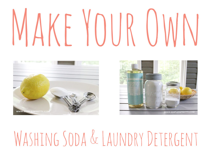 Make your own washing soda, laundry detergent, and fabric softener!
