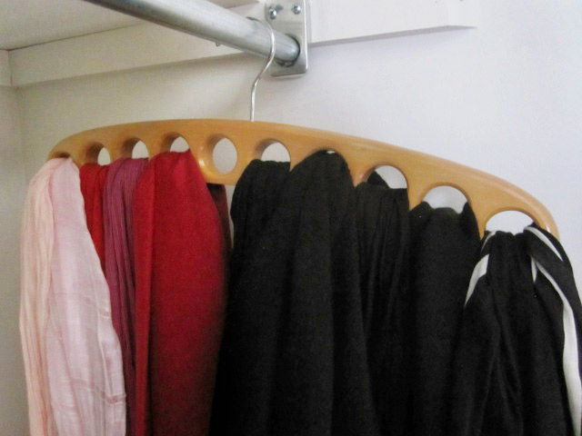 A smart way to organize scarves!