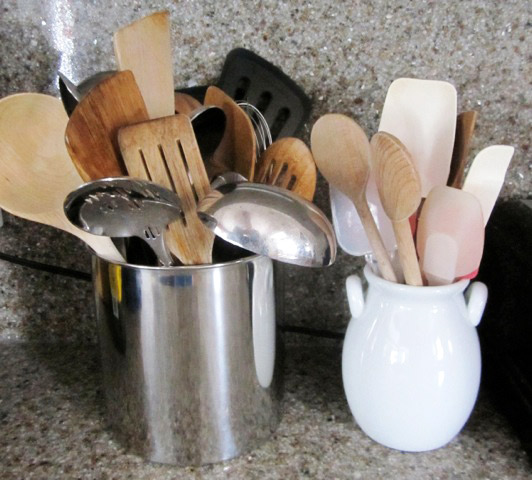 Holiday Timesaver: Grab an extra vase & separate your baking tools from the rest of your utensils. They'll be easier to grab, especially when you're baking with sticky fingers!